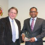 Radha Poovendran Receives Distinguished Alumni Award