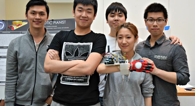 Students Develop a Piano-Playing Robotic Hand Banner