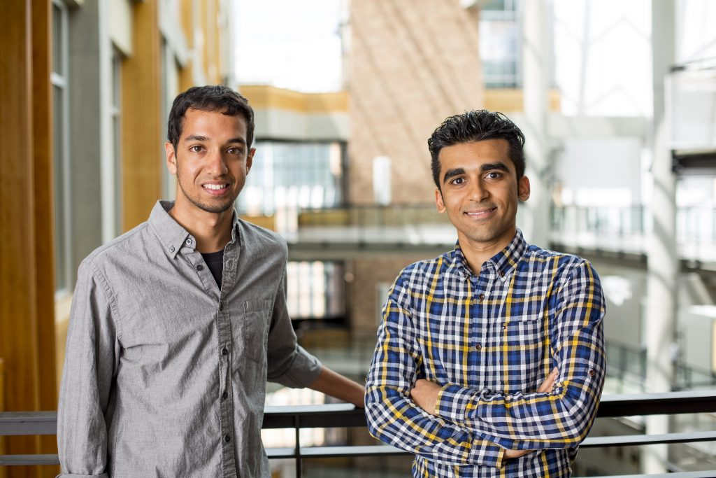 Electrical engineering Ph.D. students, Vikram Iyer (left) and Merhdad Hessar (right), are co-lead authors on the project.