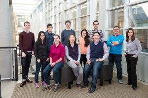 The award- winning Molecular Information Systems Lab research team includes: Front (left to right) — Bichlien Nguyen, Lee Organick, Hsing-Yeh Parker, Siena Dumas Ang, Chris Takahashi; Back (left to right): James Bornholt, Yuan-Jyue Chen, Georg Seelig, Randolph Lopez, Luis Ceze, Karin Strauss. Not pictured: Doug Carmean, Rob Carlson.Tara Brown Photography/University of Washington