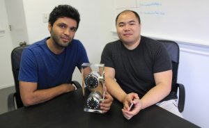 From left: UW EE alumnus, Ehsan Saeedi (Ph.D. '10), is the CEO and co-founder of Gate Lock. UW EE alumnus Harvey Ho (M.S. '07) is a co-founder of Gate Lock.