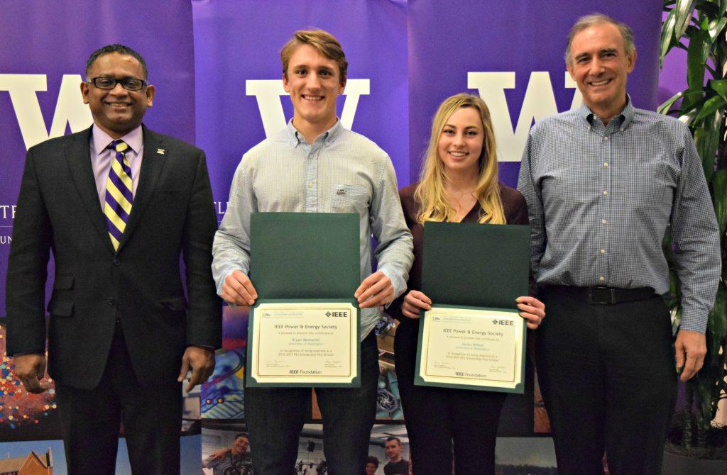 Bryan Bednarski and Jaclyn Wilson, IEEE PES Scholarship winners