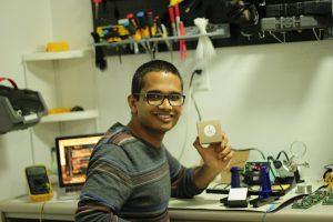 Ph.D. student Rahil Jain, co-developer of SmartDx.