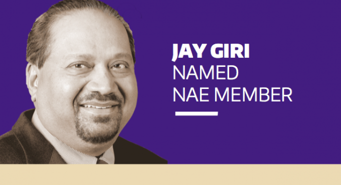 Professor Jay Giri Elected to the National Academy of Engineering Banner