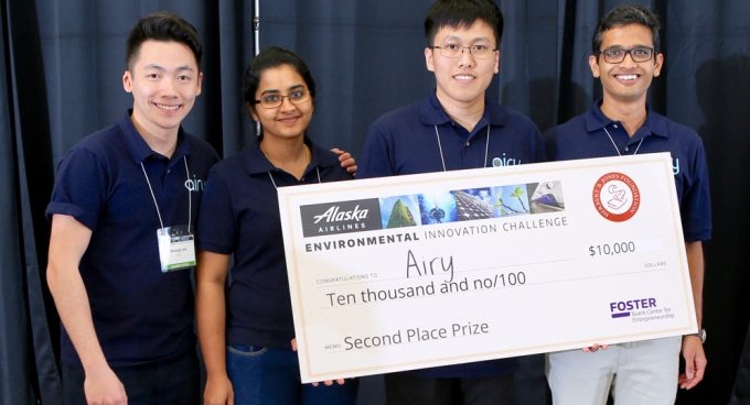Graduate and Undergraduate Students Receive Second Place at EIC Competition for Environmental Innovation Banner