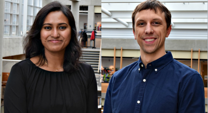 Graduate Students Mayoore Jaiswal and Kevin Lybarger Named Husky 100 Banner