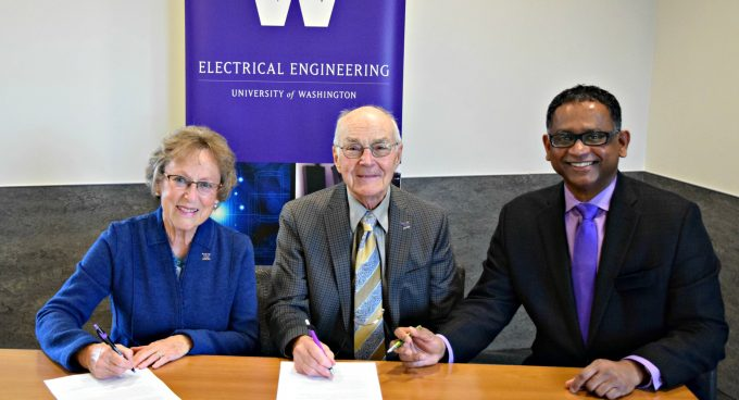 UW Alums Milton and Delia Zeutschel Endow Engineering Entrepreneurial Capstone Program Banner