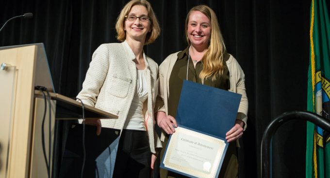 Researcher Claire Watts Receives JCATI Best Poster Award Banner