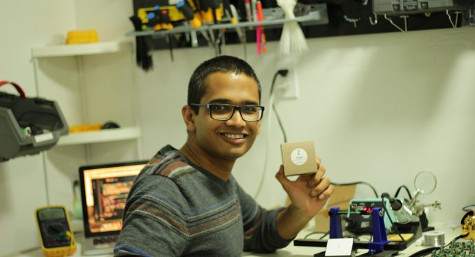 Graduate student Rahil Jain featured in Lab on a Chip journal Banner
