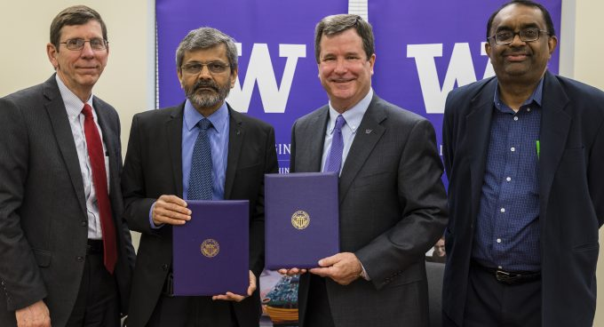 An MoU between IITH and the UW build a partnership on cyber physical systems, smart cities Banner