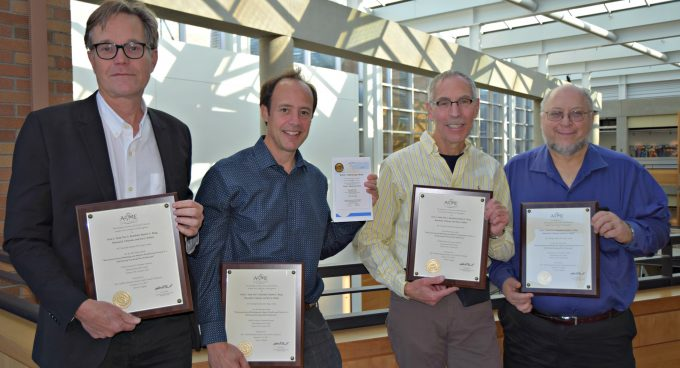 Researchers receive ASME JDSMC Kalman Best Paper Award Banner