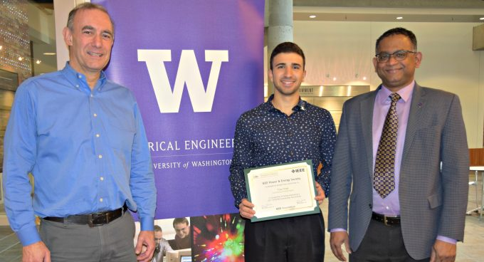 Undergraduate student Vijay Singh selected as IEEE Power & Energy Society Scholar Banner