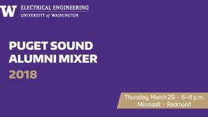Puget Sound Alumni Mixer 2018 banner.