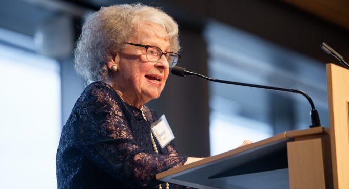Professor Emerita Irene Peden receives Diamond Award Banner