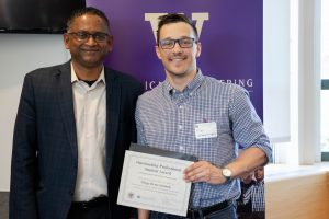 Filipp Demeschonok receives the Outstanding Professional Student Award for 2018.