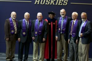 The Golden Huskies, Class of 1968, were honored for their work as engineers and for the mentorship of engineers following in their footsteps.