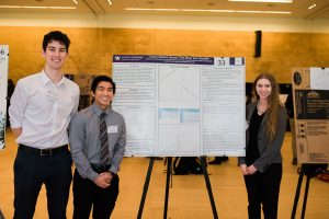 Cece Landau, Alex Kasiniak and Kevin Lau show their work on the Cancer Medical Record Time-Slicer and Classifier.