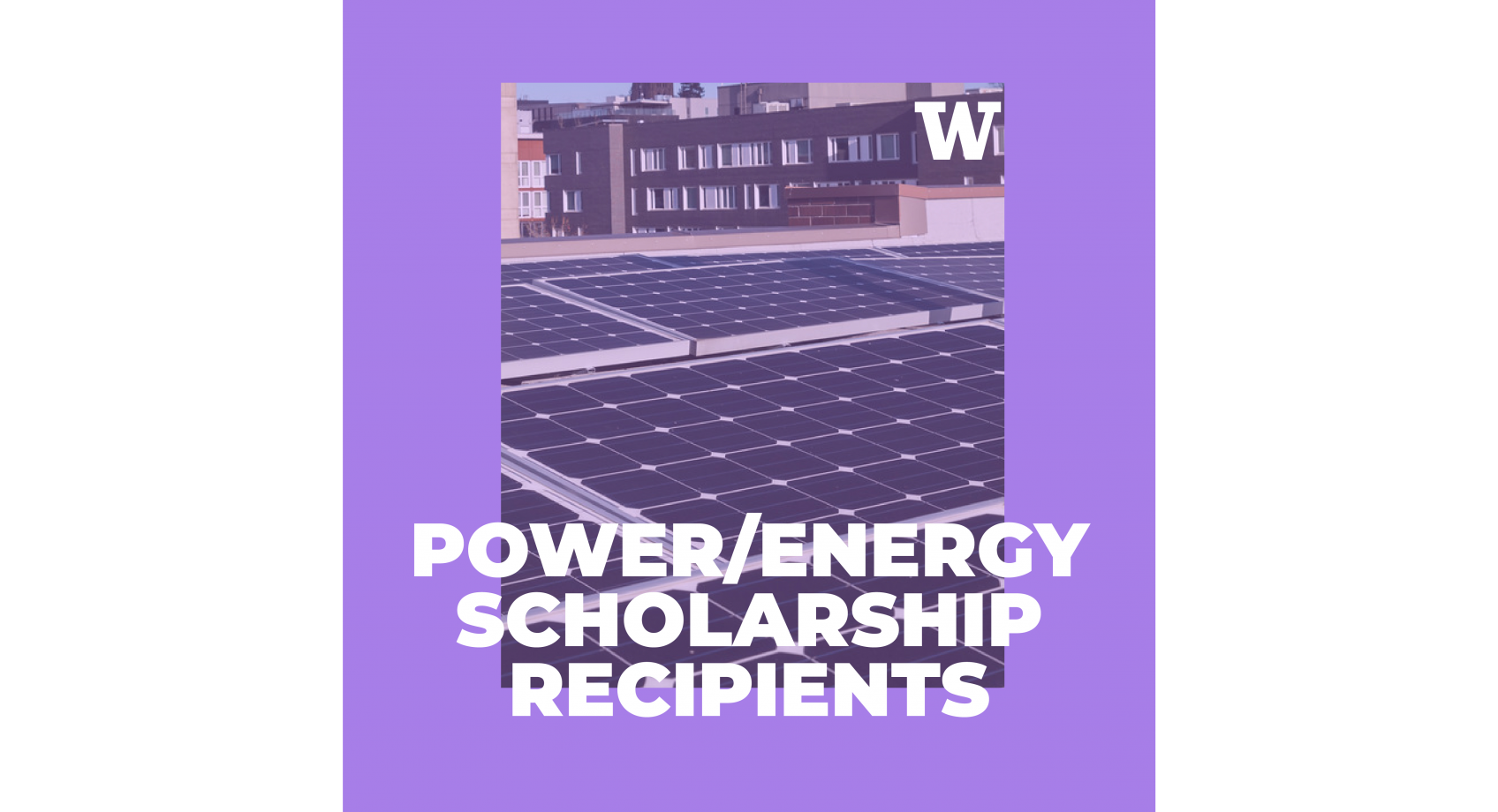 Four ECE students receive the Power & Energy Scholarship presented by IEEE Banner