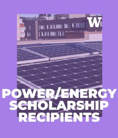 Four ECE students receive the Power & Energy Scholarship presented by IEEE