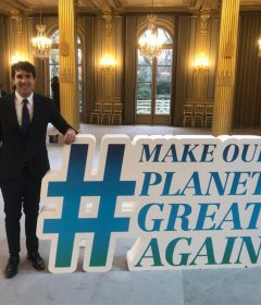 Alum Jesus Contreras Ocaña attends Make Our Planet Great Again event Thumbnail