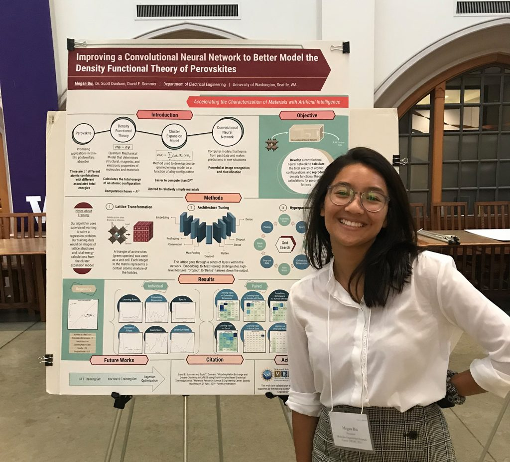 Megan presenting her research at the 2019 Summer STEM Research Poster Session.