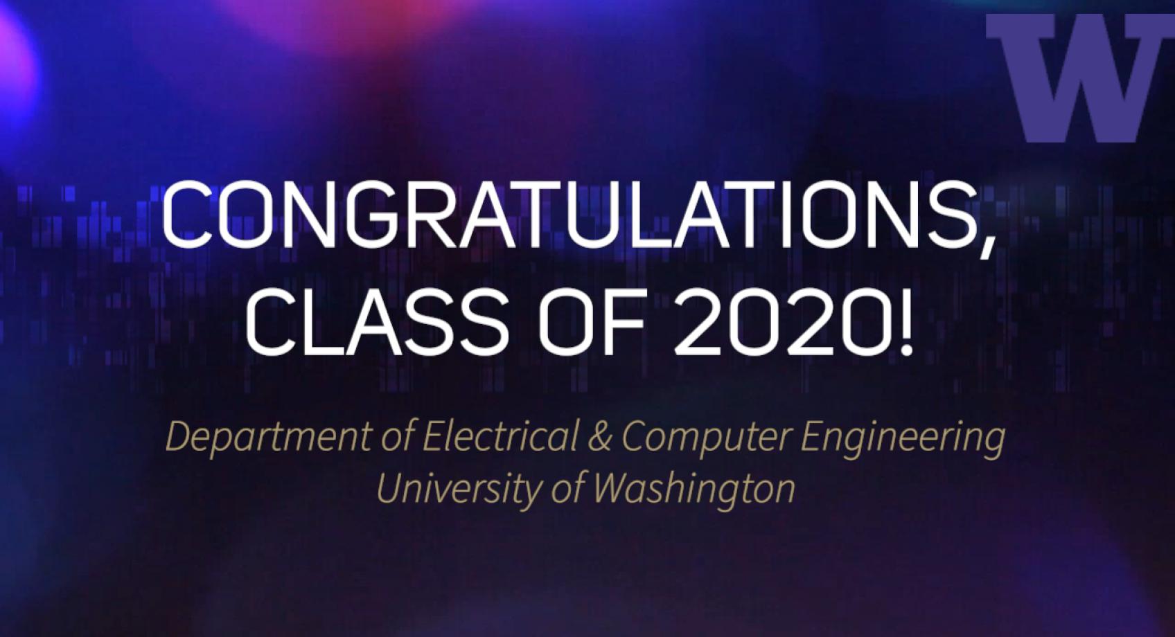 Congratulations, Class of 2020! Banner