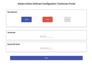 Screenshot of ASCT user interface
