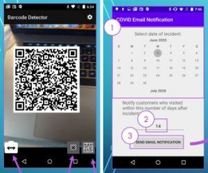 ContactScanner app screenshot