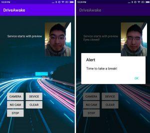 DriveAwake app screenshot