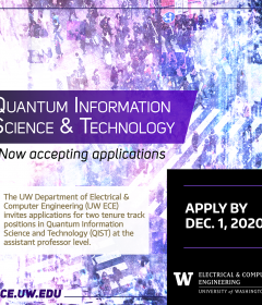 UW ECE seeks outstanding faculty candidates in quantum information science & technology