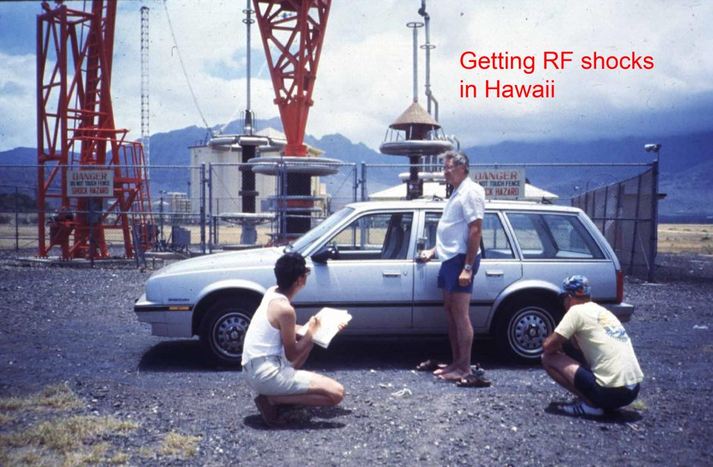 Chou and Guy's team getting RF shocks in Hawaii, 1982