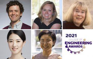 Headshots of UW ECE 2021 CoE award recipients