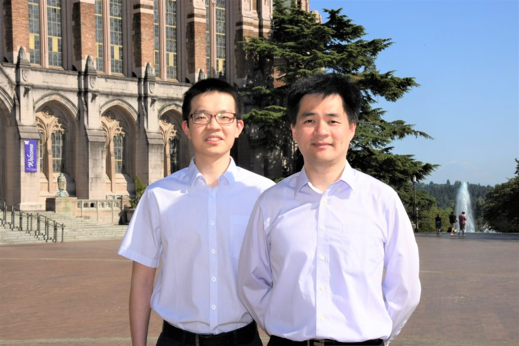 Xichen Li and Yi-Hsiang Huang on UW Red Square