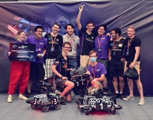 Photo of the ARUM team celebrating their win at the competition