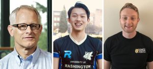 Headshots of Blake Hannaford, Winston Chen and Kevin Egedy